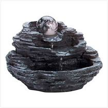 Rock Design Waterfall Tabletop Fountain