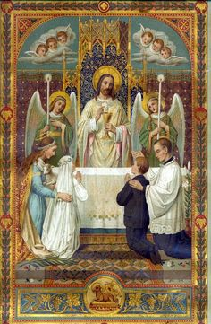 So lovely....our Lord and our God, present at the altar during the Mass