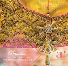 Hand sewn details on a romantically crafted blouse from Anushree Reddy