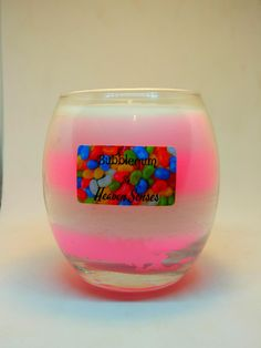 Bubblegum Scented Candle, 14oz, Bubblegum Candle, Scented Candle, Soy Candle, Glass Jar, Handmade Candle, Christmas gift, Heaven Senses by HeavenSenses on Etsy