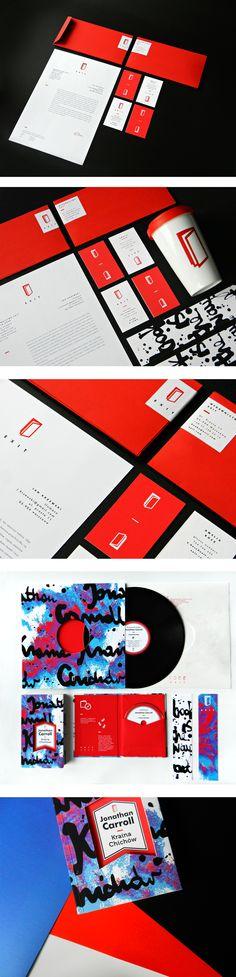 Katarzyna Wieteska - part of BA diploma project created at Editorial And Typography Design Studio of prof. Sławomir Kosmynka at Academy of Fine Arts in Łódź. #branding #logo #envelopes #business #cards #exit #stationary