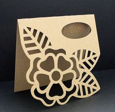 Large Flower Card - 3 ways! - Free Cut File |