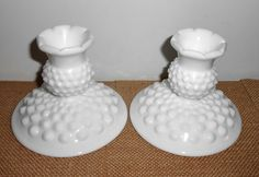 Your place to buy and sell all things handmade Candle Holders, Candle Making, Milk Glass, French Country Candle Holders, Candle Magic, Taper Candle Holders, Candles, Fenton Milk Glass, Candlesticks