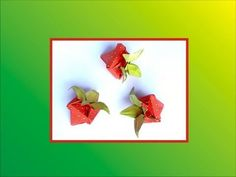 Origami Strawberry Box - YouTube