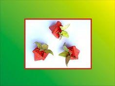 Origami Strawberry Box - YouTube