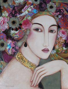 Faiza Maghni also here ' «La peinture a été pendant longtemps une envie plus ou moins inconsciente et totalement occul...