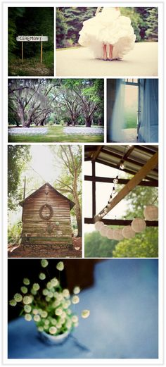 Very pretty. From the  Lemon and Lavender blog! I love the trees and the lanterns.