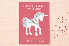 Unique Unicorn Classroom Valentine's Cards by peetie design at minted.com #Minted #Valentines