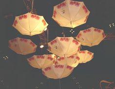Pretty umbrellas in the sky :)