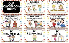 Here's a nice set of posters with class rules. Great graphics and simple language make these easy to use!