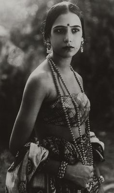 Indian silent film actress seeta devi, 1925