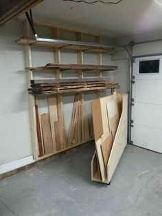 Diy wood storage cabinet build garage storage cabinets ood unique best wood shop images on plans Garage Workshop Organization, Garage Tool Storage, Workshop Storage, Garage Tools, Organization Ideas, Organizing, Lumber Storage Rack, Lumber Rack, Garage House