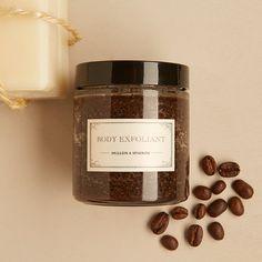 Body Exfoliant - coffee scrub - detox - mint - renew - glass jar - apothecary - 4oz - mother's day