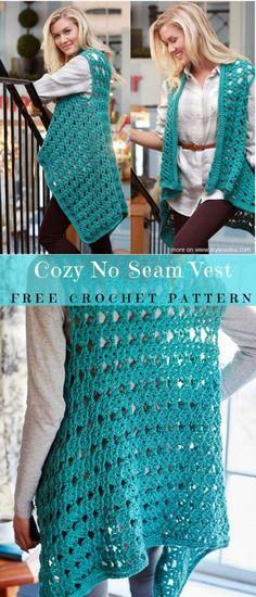 Cozy No Seam Vest Free Crochet Pattern | DIY
