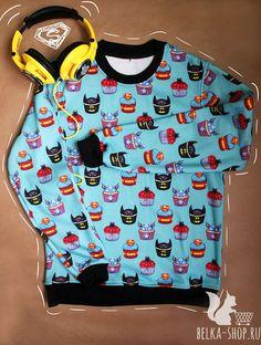 Superhero cupcakes | Sweatshirt by Belkashop on Etsy