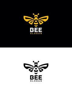 Bee Silhouette, Logo Bee, Honey Logo, Sweet Logo, King Bee, Honey Label, Nail Salon Design, Bee Creative, Bussiness Card
