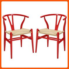 LexMod Amish Dining Armchair, Red, Set of 2 - Improve your home (*Amazon Partner-Link)
