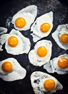 Fried egg deliciousness: jkropil Recipe: Sunny side-up, Basted eggs: 1. Heat skillet to medium; when pan is hot, melt 1 ts. butter or 'Smart Balance,' to coat pan. 2. Add egg & wait for sizzling edge to form. 3. Gently add 2-3 oz. water to side of egg & Cover! 4. Baste for 2-3 min or to your liking. Enjoy with your favorites. Sliced avocado, Tomato, favorite fruit, toast, coffee, tea. Hope you like the recipe.
