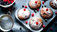 These muffins, liberally studded with dried berries and light on sugar, are our weekend brunch menus. Add them to yours as well. They're made with spelt, an ancient and robust strain of wheat. Sweet Breakfast, Breakfast Dishes, Breakfast Recipes, Dried Berries, True Food, Brunch Menu, Anti Inflammatory Recipes, Glaze Recipe, Eating Clean