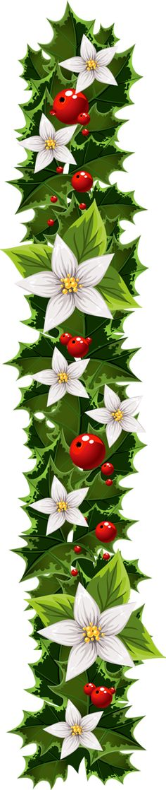 Transparent Christmas Garland Clipart
