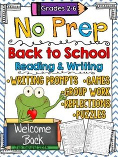 Super fun group and partner games!  Get to know your students' reading and writing styles and much more with this fun NO PREP back to school resource!!  Your students will LOVE the games, puzzles, group work, and writing activities, and more! ($)