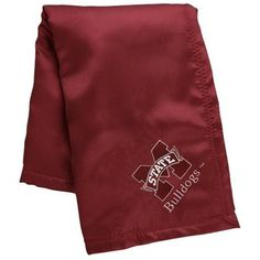 Mississippi State Bulldogs Infant Maroon Silky Baby Blanket.. (I think Kayden needs one of these!!)