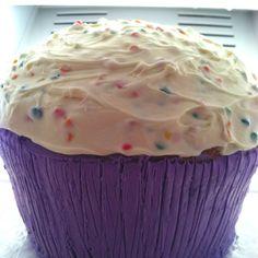 Giant cupcake cake.
