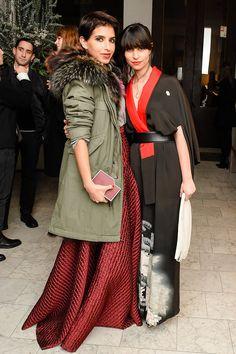 Princess Deena Aljuhani Abdulaziz (left)