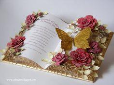 Flower Cards, Paper Flowers, Heartfelt Creations Cards, Wedding Cards Handmade, Folded Book Art, Card Book, Shaped Cards, Fancy Fold Cards, Easel Cards