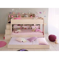 Calling all other sleepover beds: step aside and make way for the Happy Beds Bibop 2 Acacia Bunk Bed with Underbed! Bed With Underbed, Bunk Beds With Drawers, Wooden Bunk Beds, Bunk Beds With Storage, Bunk Bed With Trundle, Bunk Beds With Stairs, Cool Bunk Beds, Twin Bunk Beds, Kids Bunk Beds