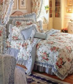 Shabby Chic Bedrooms, Shabby Chic Homes, Shabby Chic Decor, Dream Bedroom, Home Bedroom, Bedroom Decor, Pretty Room, Beautiful Bedrooms, Interior Design