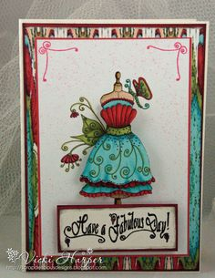 Birthday Cards, Happy Birthday, Paper Dresses, Dress Card, Pretty Cards, Altered Books, Creative Cards, Handmade Cards, Card Ideas