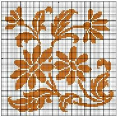 Square 53 | Free chart for cross-stitch, filet crochet | Chart for pattern - Gráfico