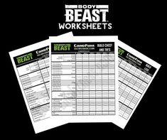 Body Beast Workout Sheet