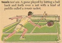 "Vintage ""Tennis"" dictionary print, mix with travel/vacation prints"