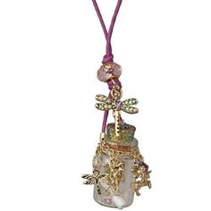 Kirks Folly Fairy in a Bottle Necklace with Enchanted Charms and Follydust!