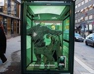 outdoor ad for a Swedish graphic novel. feels like it's using AR technology but it's not!