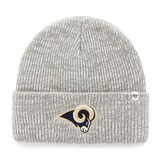 100% authentic 9cc38 5957d Los Angeles Rams Brain Freeze Cuff Knit Gray 47 Brand Hat