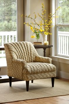 This traditionally styled accent chair is as comfortable as it is stylish and found at Sofa Mart.