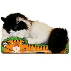 Tiger Cat Scratcher Price: $24.00 http://www.nipandbones.com/tiger-cat-scratcher.html