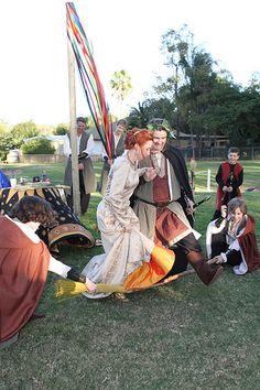 Kjirsten& Bruces medieval pagan handfasting vow renewal | Offbeat Bride