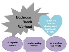 Bathroom Stall Workout bathroom break workout! complete one set every time you hit the