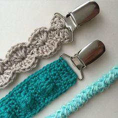 Free crochet pattern pacifier clips. #crochet  pattern by Willeke  pattern by…