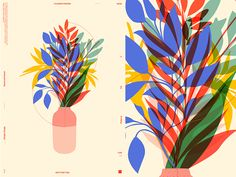 Flowers Vaze vaze floral flowers grid fragment layout poster art poster challenge form poster a day lines poster illustration laconic composition abstract minimal Art And Illustration, Graphic Design Illustration, Illustrations, Graphic Art, Text Poster, Grafik Design, Graphic Design Inspiration, Surface Design, Art Inspo