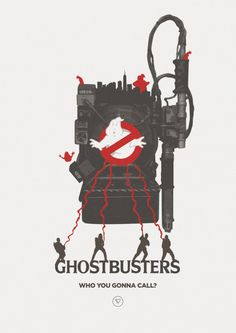 I ain't afraid of no ghosts! - Ghostbusters by lewisdowsett on DeviantArt Ghostbusters 1984, The Real Ghostbusters, Looney Tunes Wallpaper, Future Wallpaper, Great Comedies, Foto Top, Calendar Stickers, Ghost Busters, Minimal Poster