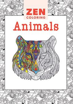 Zen Coloring Animals Adult Colouring Book - Colouring Books - Books - Books & Patterns
