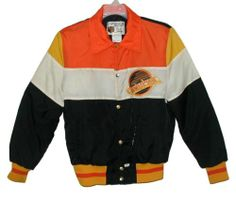 Early 80s Vancouver Canucks windbreaker/jacket by Shain of Canada... SUPER UGLY!