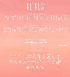 Refresh Font (LIMITED EDITION)+Bonus by Studio&Story on @creativemarket