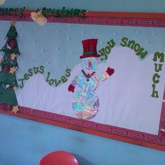Christmas Bulletin Board Ideas | Jesus Loves You 'SNOW' Much! | Christmas Bulletin Board