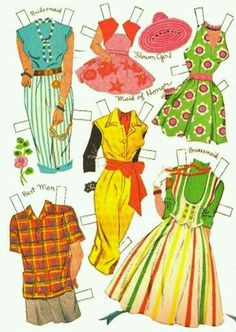 Bride and Groom Paper Dolls Vintage